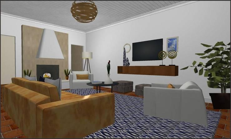 Sala de estar  ecléctica:  de estilo  por SilviaKarounos Decor Studio