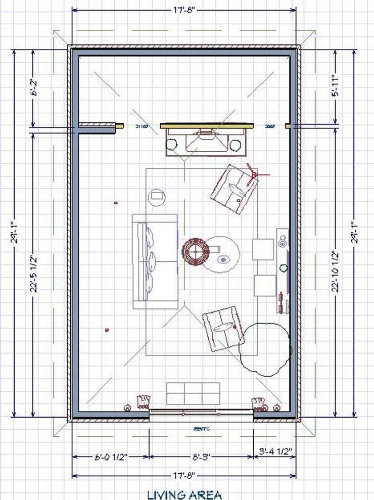 Nuevo plano del espacio:  de estilo  por SilviaKarounos Decor Studio