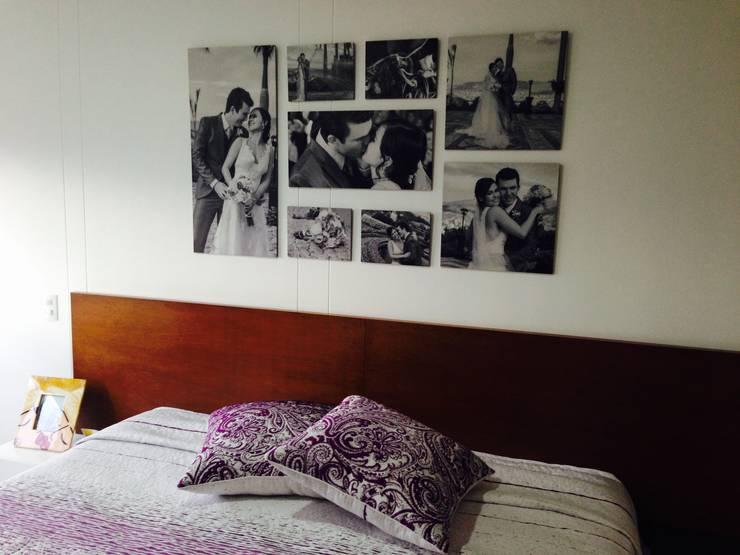 Projekty,  Ściany zaprojektowane przez Cuarto de Luz: fotografía y decoración