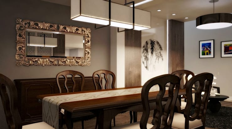 BESSIE: Comedores de estilo  por Kuro Design Studio