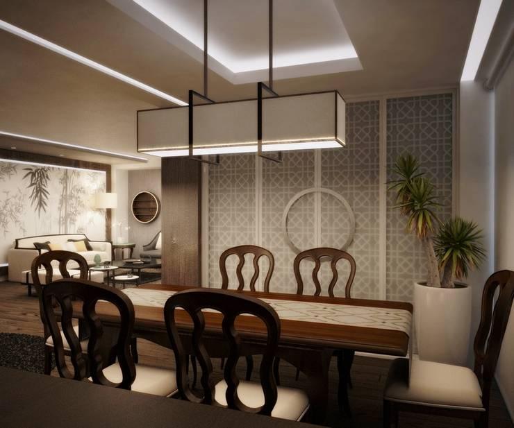Comedores de estilo  por Kuro Design Studio