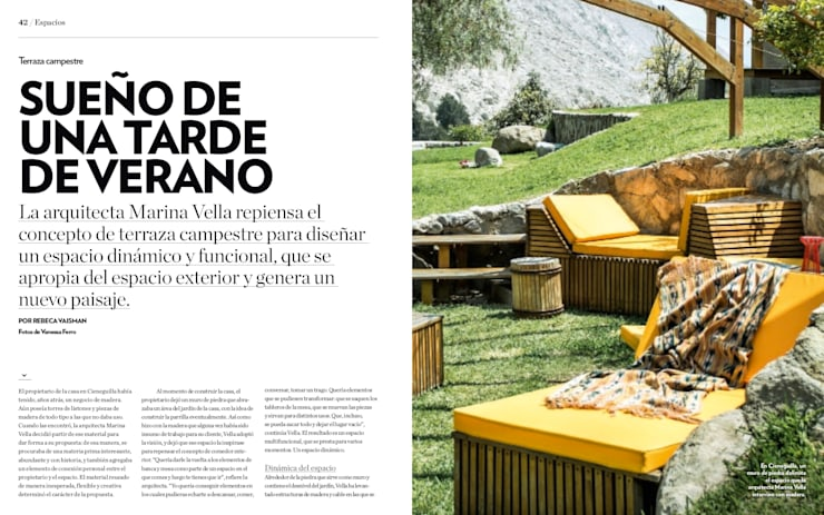 Banca Relax: Terrazas de estilo  por Marina Vella Arquitectura