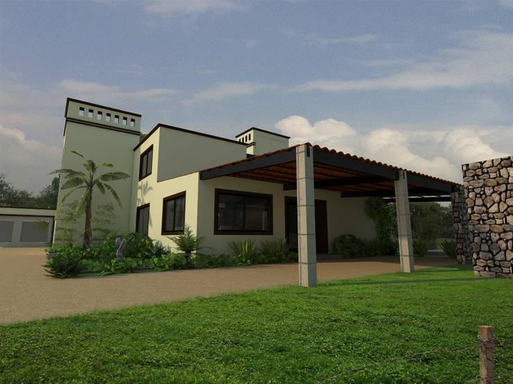Fachada posterior: Casas de estilo  por Arqternativa