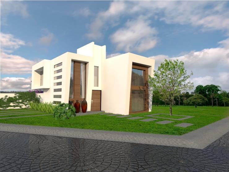 Fachada principal: Casas de estilo  por Arqternativa