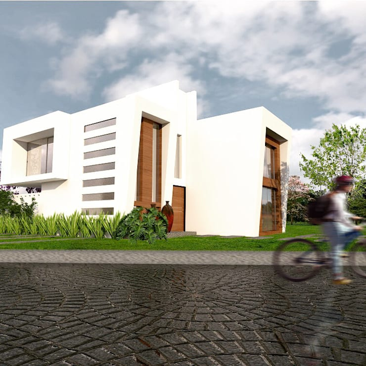Vista desde la calle: Casas de estilo  por Arqternativa