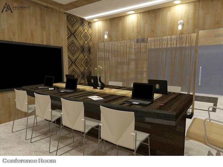 Office Interiors:   by Archemist Architects