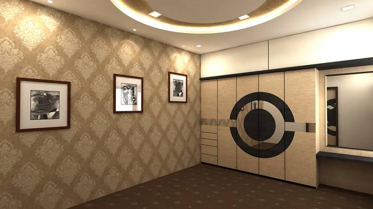 Duplex in Indore:  Bedroom by Shadab Anwari & Associates.,Asian