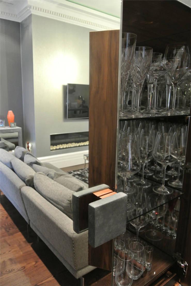 Furniture detail:  Living room by Rethink Interiors Ltd