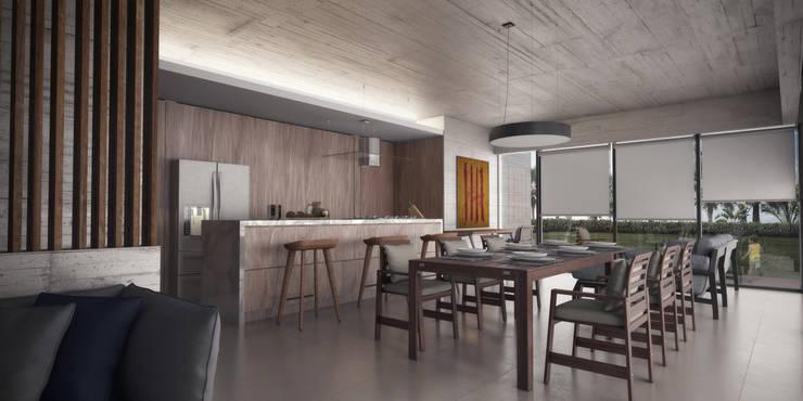 Departamentos Punta Caracol - A.flo Arquitectos: Cocinas de estilo  por A.flo Arquitectos