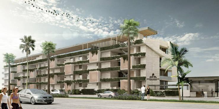 Departamentos Punta Caracol - A.flo Arquitectos: Casas de estilo  por A.flo Arquitectos