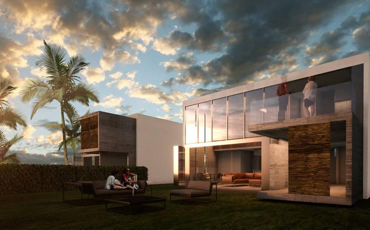Case moderne di A.flo Arquitectos Moderno Cemento