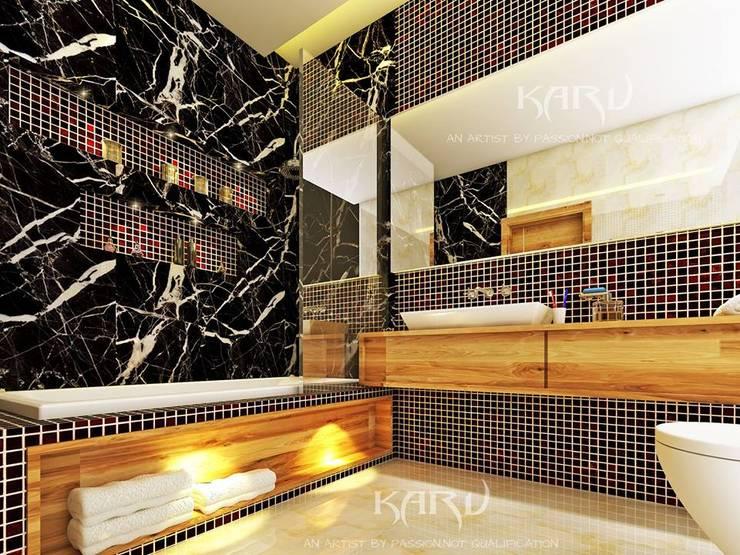 BATHROOM DESIGNS: modern Bathroom by KARU AN ARTIST