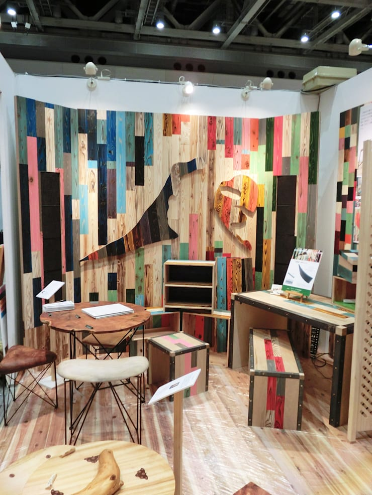 by 株式会社シオン Industrial Solid Wood Multicolored