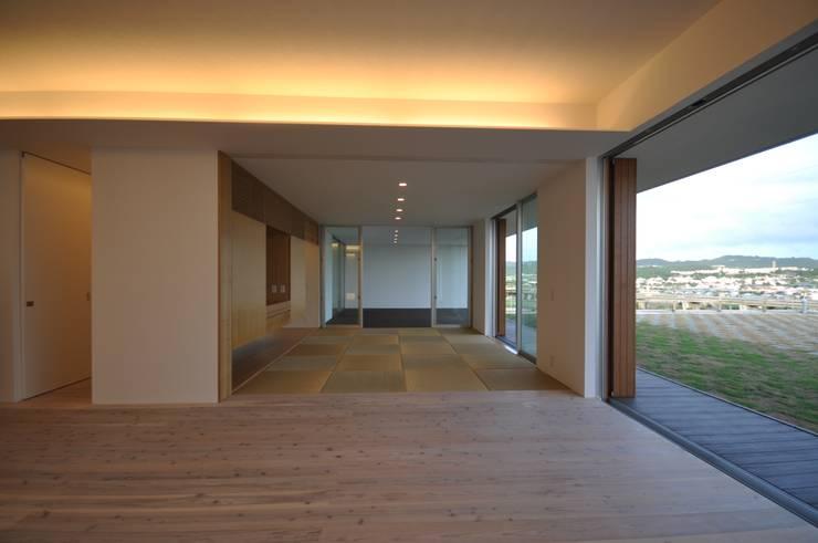 NKZT-house: 門一級建築士事務所が手掛けたリビングです。