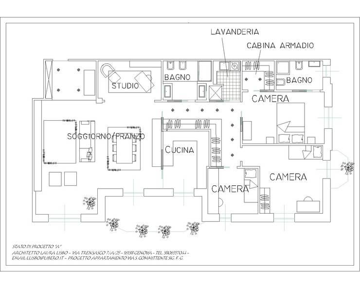 Гостиная в . Автор – ARCHITETTO LAURA LISBO