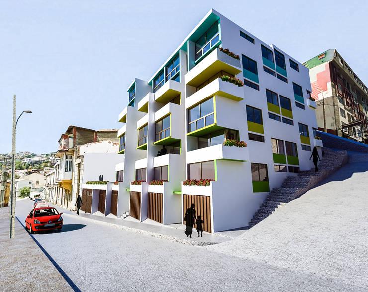 Edificio residencial Nueva las Rosas: Casas de estilo  por Materia prima arquitectos