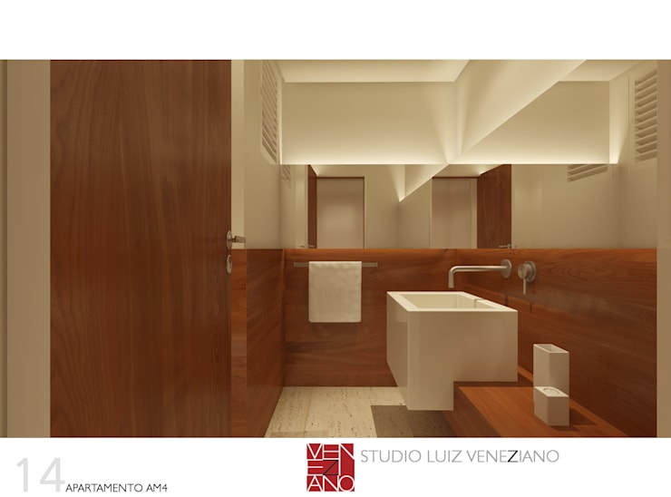 Bathroom by STUDIO LUIZ VENEZIANO