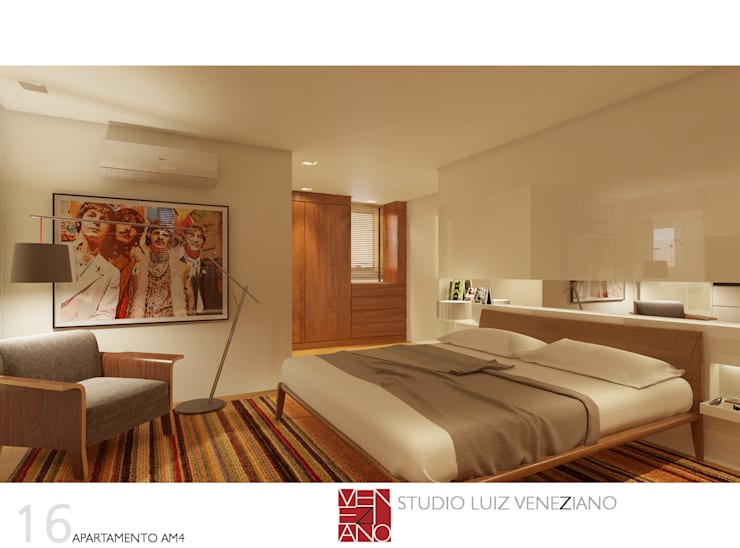 Bedroom by STUDIO LUIZ VENEZIANO