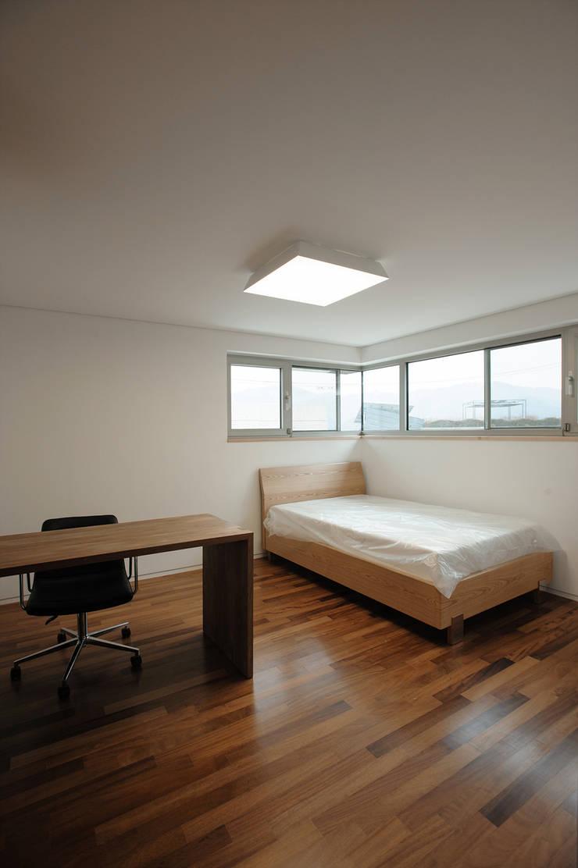 평창동 주택 (Pyeongchangdong House) : 위빌 의  침실,모던