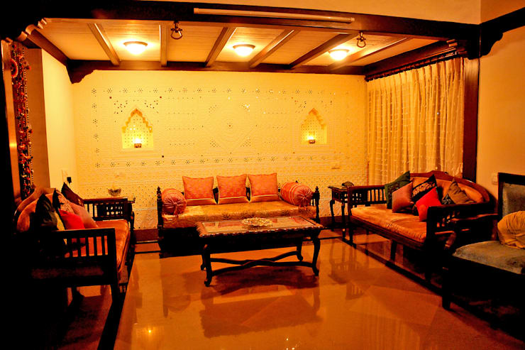 Dhiren Tharnani:  Living room by IMAGE N SHAPE