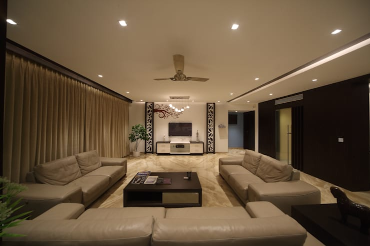 Samrath Paradise:  Living room by IMAGE N SHAPE,Modern