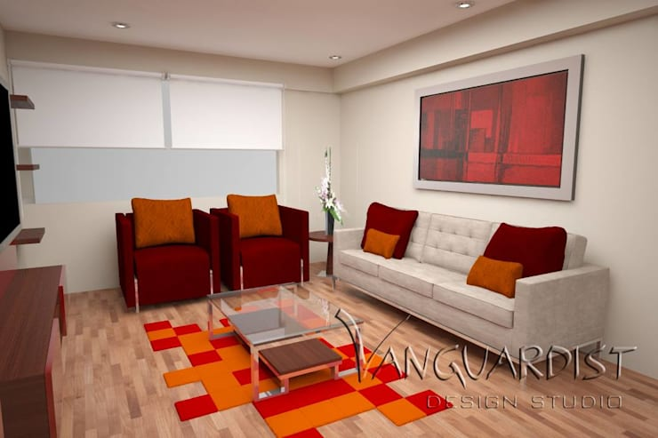 Diseño de Departamento San Borja: Salas / recibidores de estilo  por Vanguardist Design Studio , Moderno