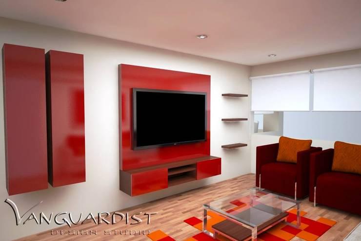 Diseño de Departamento San Borja: Salas / recibidores de estilo moderno por Vanguardist Design Studio