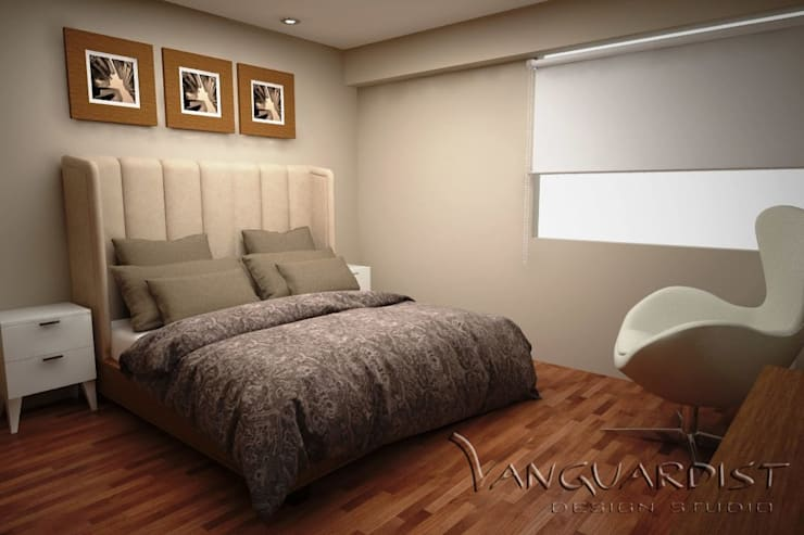 Diseño de Departamento San Borja: Dormitorios de estilo  por Vanguardist Design Studio , Moderno