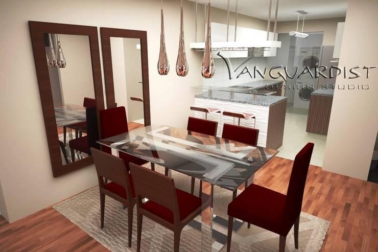 Diseño de Departamento San Borja: Comedores de estilo moderno por Vanguardist Design Studio