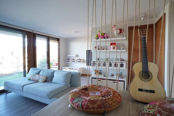 Casa KC: Livings de estilo  por NAU DISEÑO Y CONSTRUCCION,