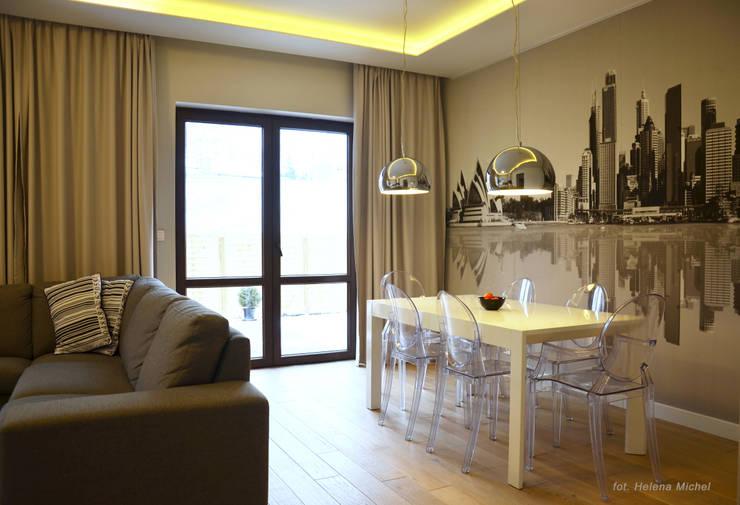 غرفة المعيشة تنفيذ Modify- Architektura Wnętrz