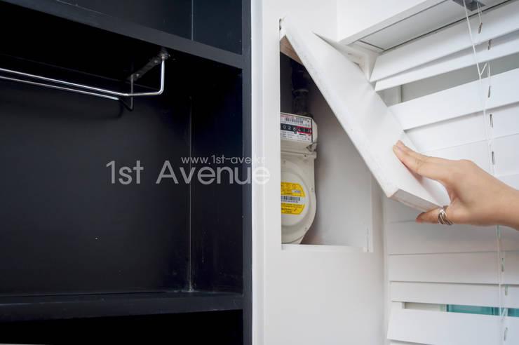고급스러움이 풍기는 공간 속 컬러감이 돋보이는 아이들방 인테리어 : 퍼스트애비뉴의  주방