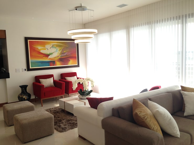 Apartamento Majestic 2103: Salas de estilo  por John Robles Arquitectos, Moderno