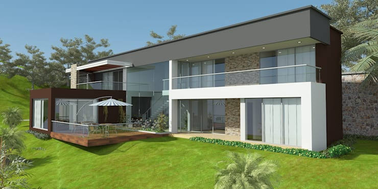 Casa ED: Casas de estilo  por John Robles Arquitectos