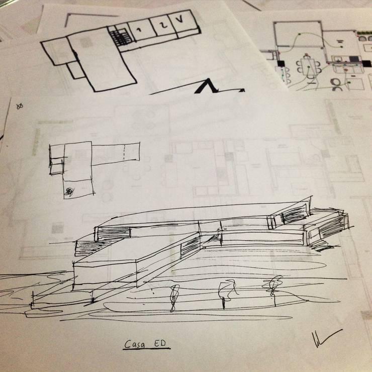 Casa ED:  de estilo  por John Robles Arquitectos