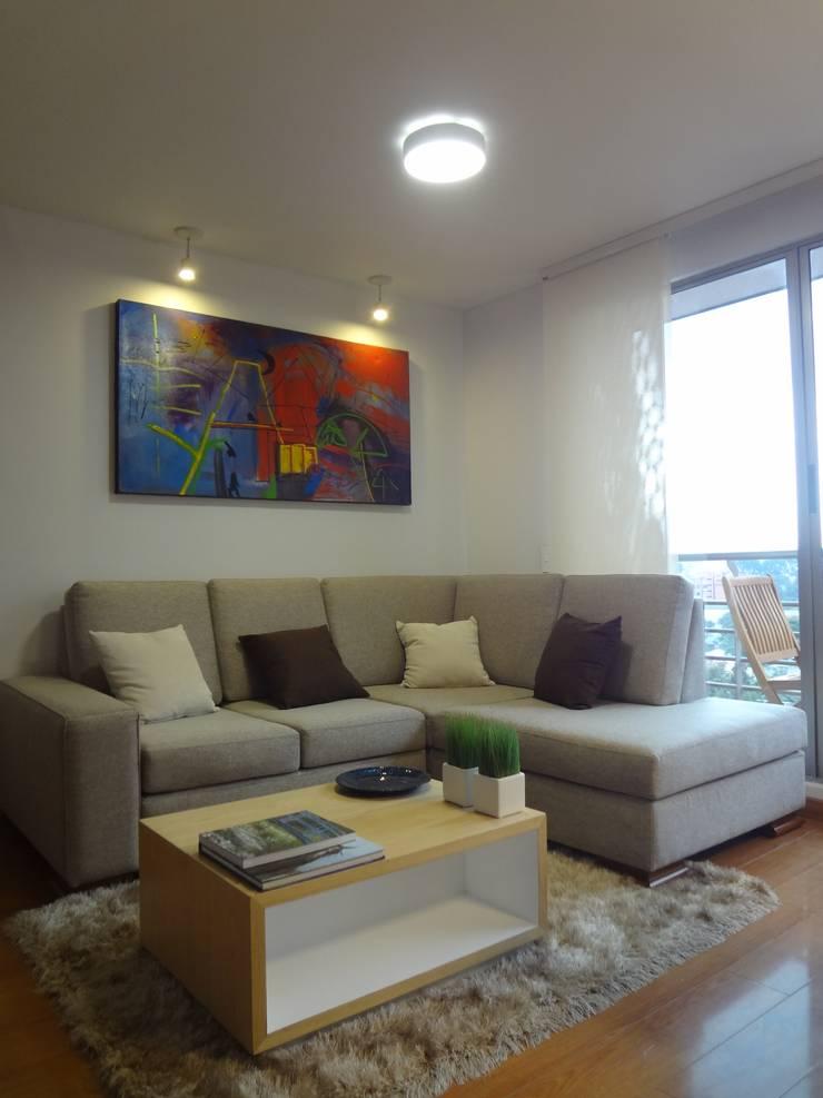 Apartamento Alcaparros Montanar: Salas de estilo  por John Robles Arquitectos