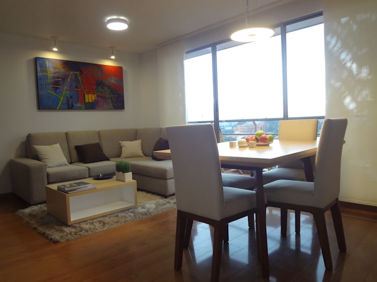 Apartamento Alcaparros Montanar: Comedores de estilo  por John Robles Arquitectos