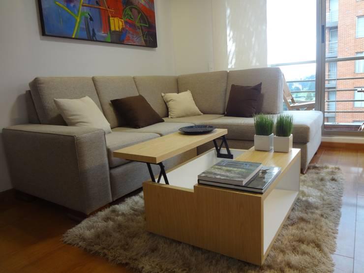 Apartamento Alcaparros Montanar:  de estilo  por John Robles Arquitectos, Moderno