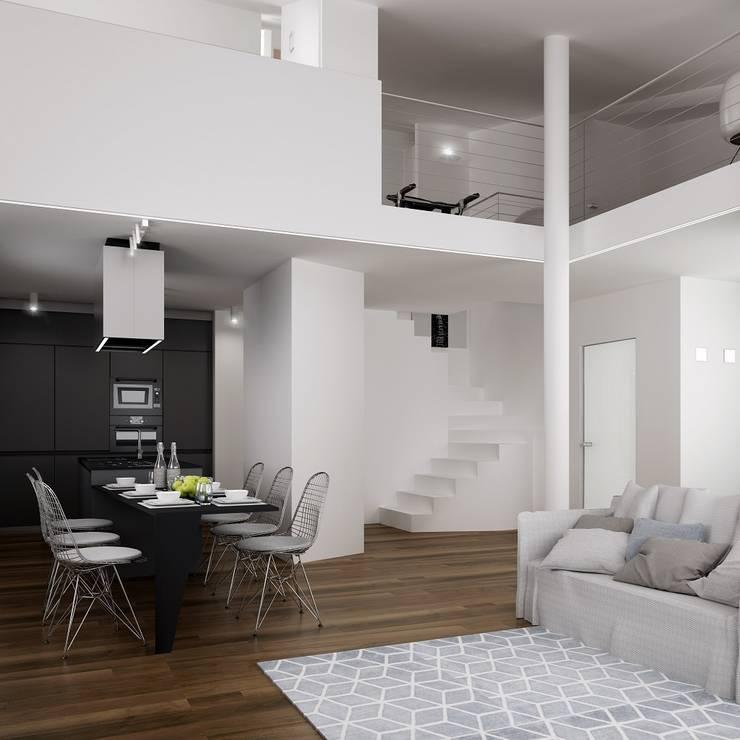 Comedores de estilo minimalista de Dario Cipelletti Architect