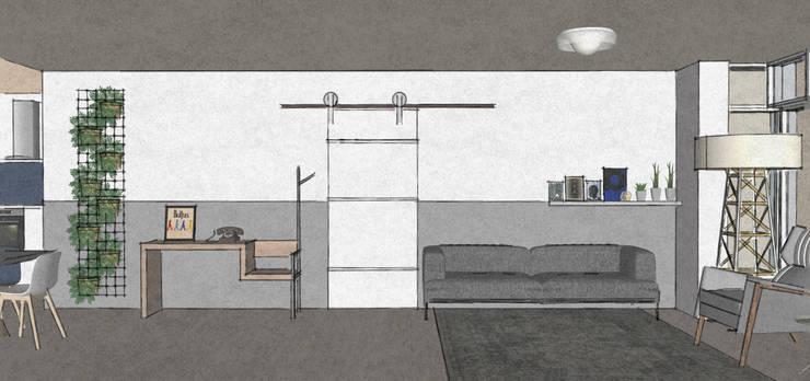 C&L – :  Woonkamer door MEL design_, Scandinavisch