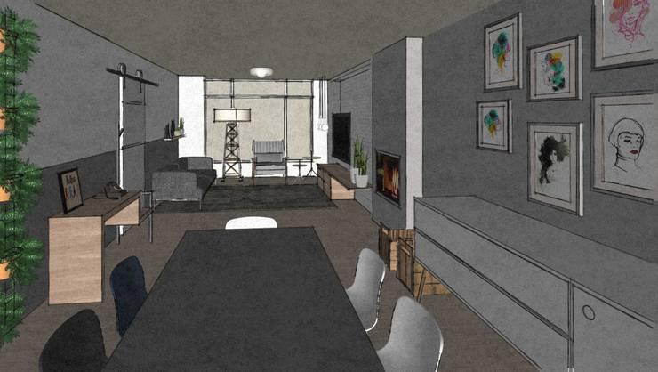 C&L – :  Eetkamer door MEL design_, Scandinavisch