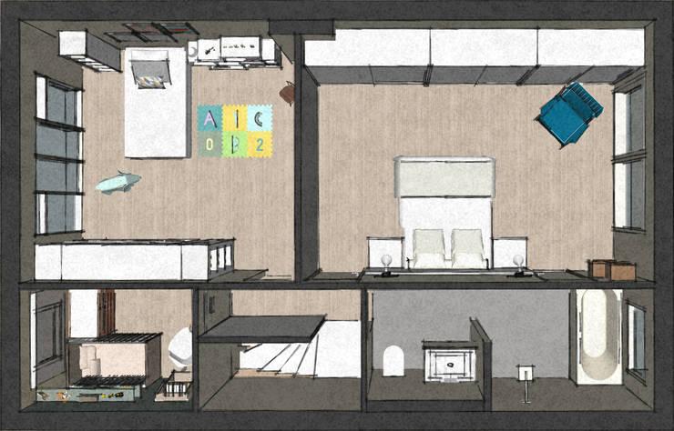 C&L – :  Slaapkamer door MEL design_, Scandinavisch