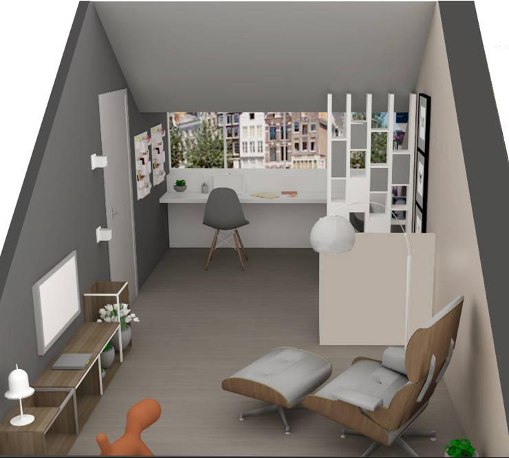 C&L – :  Studeerkamer/kantoor door MEL design_, Scandinavisch