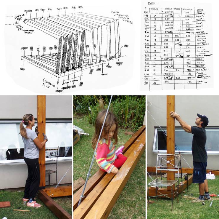 AMPLIACIÓN / proyecto de autoconstrucción con materiales de demolición: Dormitorios de estilo  por juan olea arquitecto
