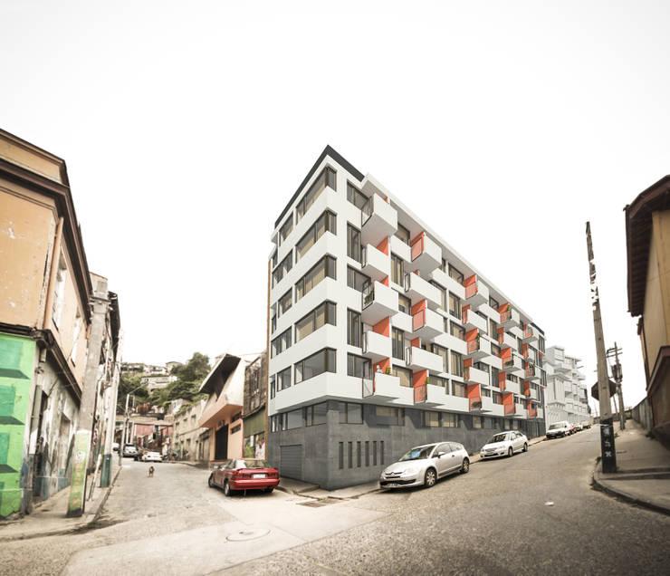 Edificio residencial Parque el Litre: Casas de estilo moderno por Materia prima arquitectos