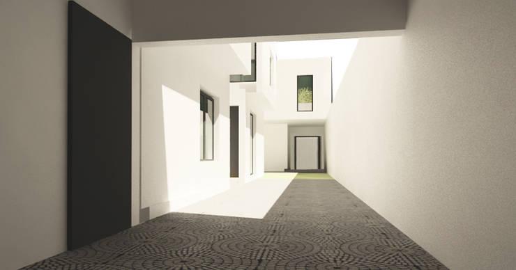Maisons de style  par JAPAZ arquitectura arte diseño, Moderne Briques