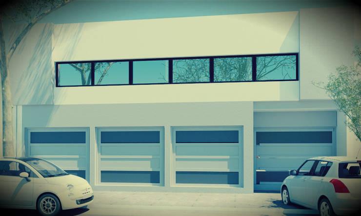 Maisons de style  par JAPAZ arquitectura arte diseño, Moderne Métal