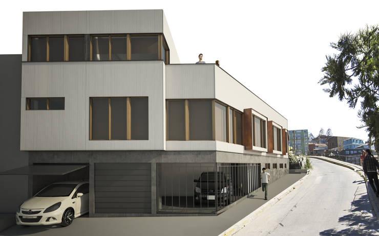 Maisons de style  par Materia prima arquitectos, Moderne