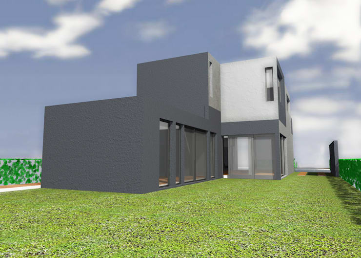 Casas de estilo  de JAPAZ arquitectura arte diseño,