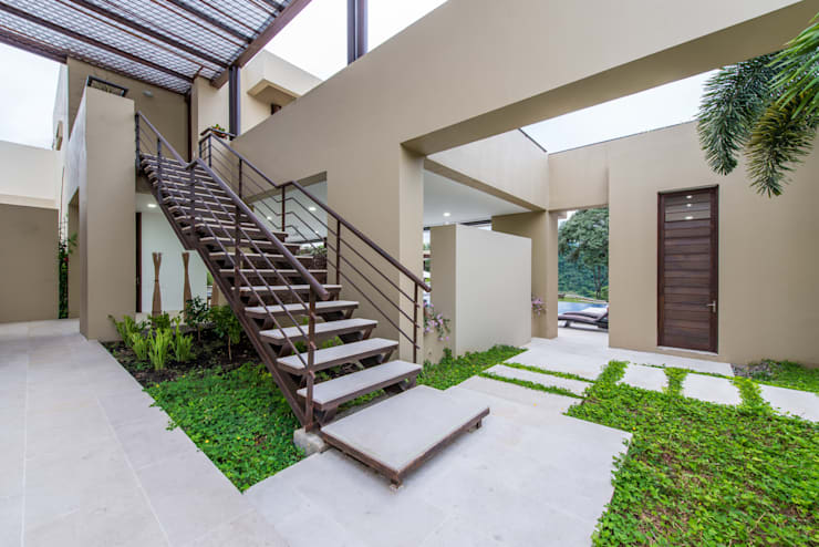 Jardines de estilo  por David Macias Arquitectura & Urbanismo